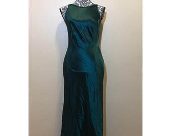 Vintage Green Prom Dress | Emerald Green Dress | Vintage Formal Gown | Green Prom Dress