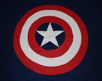 Captain America Double Layer Fleece Blanket