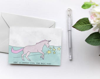 Magic | Unicorns Love Solange | Greetings Card