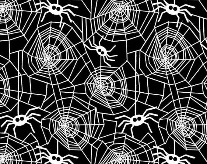 Ready, Set, Glow by Blank Quilting - Spiders in Webs - GLOW in the Dark Cotton Woven Fabric