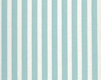 AU MAISON oilcloth stripe big Aqua sky strips coated cotton 1 m