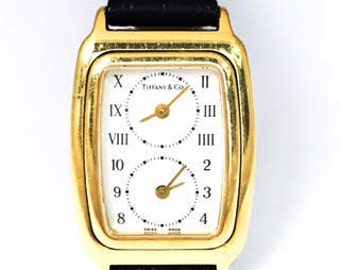 Tiffany & Co. Lady's Yellow Gold Dual Time Zone Watch