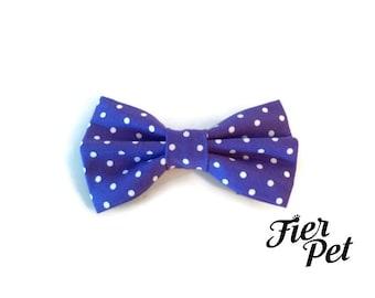 dog bowtie ,purple ta dot, purple bow tie, for dog ,pet accessories fier-pet,fierpet,large dog collar,dog accessories