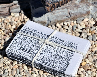 Newspaper Bundle for Miniature Garden, Fairy Garden