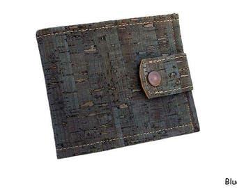 Men's Cork Wallet, Vegan Wallet, Bifold Wallet Men, Cork Wallet, Brown Wallet for Men - Eco-Friendly Wallet