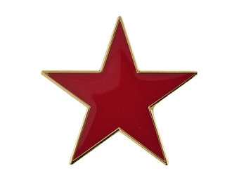 Gold Plated Red Star Jewelry Pin