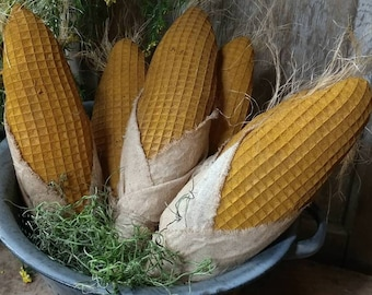 Primitive Bowl fillers Harvest decor corn bowl fillers Corn on cob Fall decor Thanksgiving