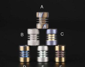 """Paracord Titanium alloy beads """"Double drum"""""""