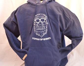 "Navy Blue ""Shredsquatch"" Hooded Sweatshirt"