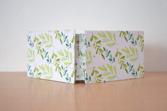 Blank pages notebook, Notebook for her, Natural notebook, Coptic journal, Blank pages notebook, Leaves notebook, Handmade diary