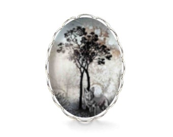 Tree and Wolf ring