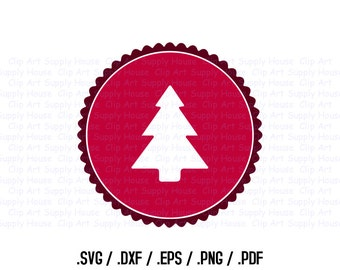 Christmas Tree Clipart, Winter Christmas Wall Art, Tree SVG File for Vinyl Cutters, Screen Printing, Silhouette, Die Cut Machines - CA380