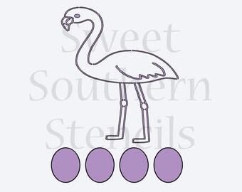 Flamingo PYO Cookie Stencil