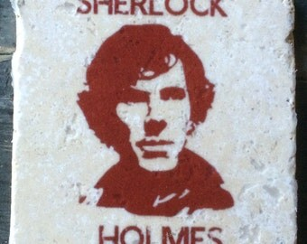 OVERSTOCK SALE: Sherlock Holmes Silhouette Cumberbatch Coaster or Decor Accent