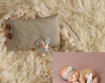 Ready to ship posing pillow....easter pillow...polka dot pillow...bunny...prop pillow
