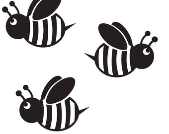 Bumble Bee Wall Stickers Decals Decorations Nursery