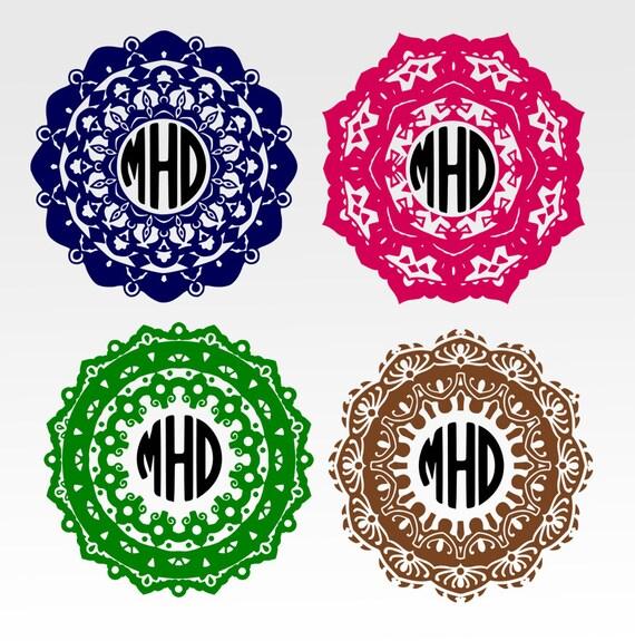 Items similar to Mandala monogram svg, Circle monogram ...