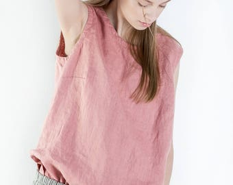 Natural linen blouse / Linen blouse / linen tank top / linen t-shirt / Plus Size Linen Clothing / linen blouse