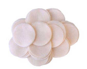 50 pc Cream 3 inch Felt Circles