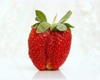 Foodie Gift Kitchen Art Print Strawberries photo Strawberries print Kitchen wall decor Art photo strawberries picture Fruit decor print
