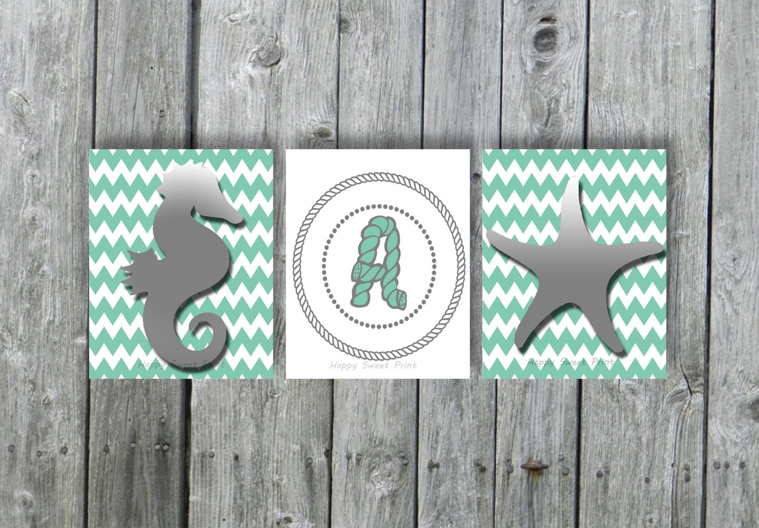 Personalized Nautical Wall Decor : Personalized printable nautical wall decor downloadable