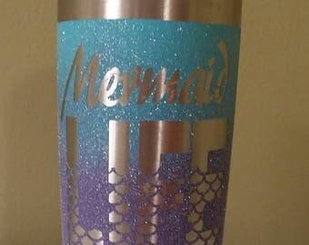 "Custom ""Mermaid Life"" Tumbler Cup"