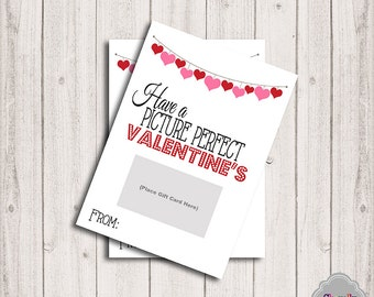 INSTANT DOWNLOAD - Movie Valentine Gift Card Printable - Val008 - gift card, teacher, student, co-worker, boss, gift idea