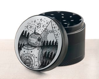 Laser engraved herb grinder | Rogue One grinder by Topboro