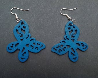 Wooden Butterfly earrings