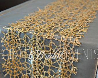 Gold Sequin Lace  Runners