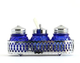 Cobalt Blue Condiment Server