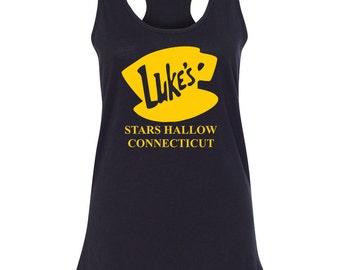 Luke's Diner Gilmore Girls Womens Racerback Womens Tank Top Tee T Shirt