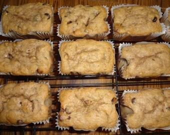 Super Moist Homemade Reese's Peanut Butter Cup Banana Bread Mini Loaves (1 Dozen)