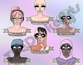 Feminist Beauty Stickers