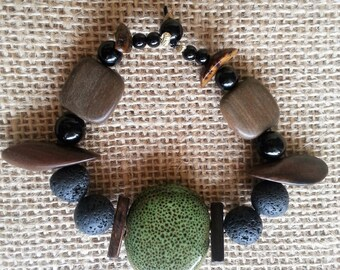 Essential oil diffuser bracelet, Earthy