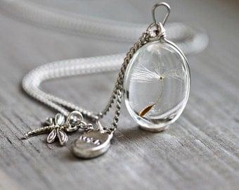 925  silver necklace dandelion