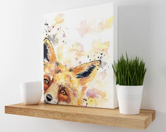 Fox Art - Fox Art Nursery - Wildlife Art - Animal Office Decor - Fox Print - Nursery Decor - Kids Room Art Decor - Animal Wall Decor - Fox