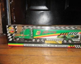 Indianapolis 500 Car Transporter Semi Menard Racing Die-Cast 1/48 Scale 1995-96