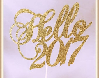 New Year Cake Topper - New Year Party Decorations - New Year Party Decor - New Year Centerpiece - New Year Party Cake Topper - Happy New