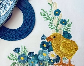 Machine Embroidery Design - Easter Chicken