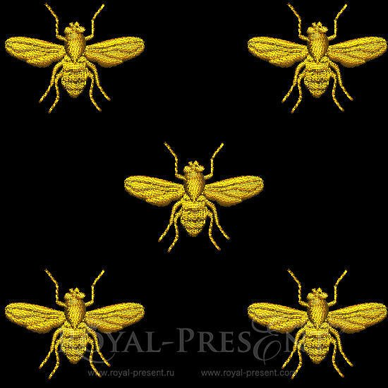 Machine embroidery design napoleonic bee