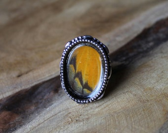 Orange butterfly Ring