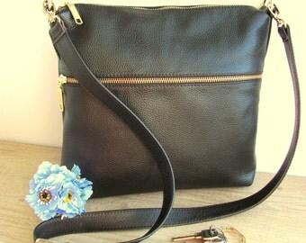 Brown leather crossbody bag Women gift for mom Shoulder bag Women Purse Handbag Birthday gifts girlfriend Gift for sister Medium bag