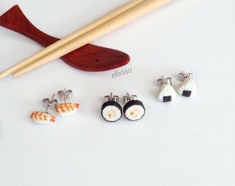 Miniature Sushi Earrings [Set of three]