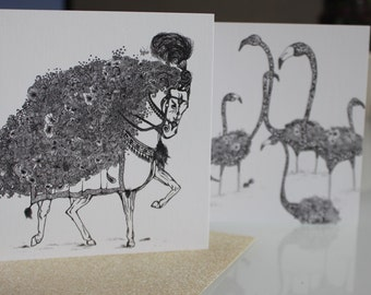 Animal Illustrated Greeting Cards