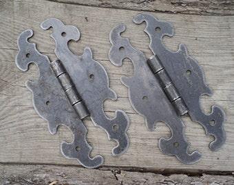 Vintage Hinges - old hinges - steel hinges - Metal Hardware - Door Hinges - dekor door - Antique loop