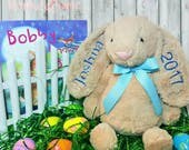 Personalized Easter Bunny...Personalized Stuffed Animal...Easter Bunny...Easter Gift...Easter Basket Gift...Monogrammed Easter Bunny