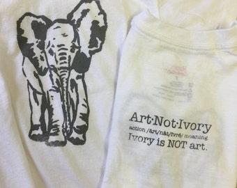 4T Grey Elephant Screen Print Tee Shirt