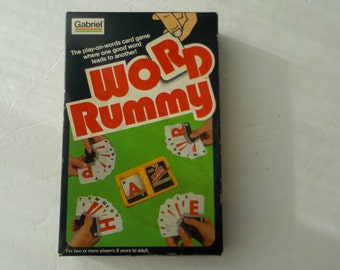 Word Rummy Game by Gabriel 1980 Classic Word Game meets Card Game