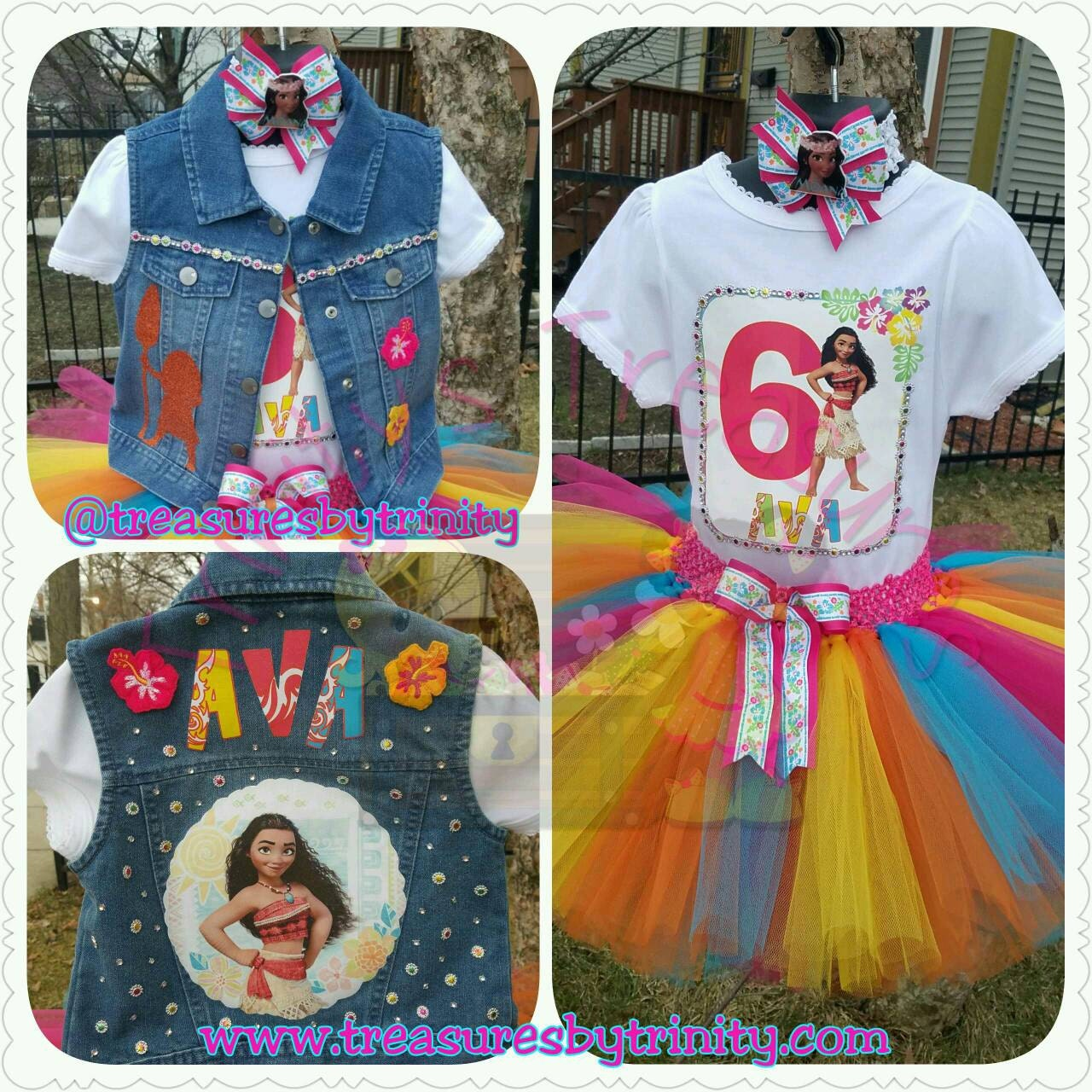 Birthday Party Outfit: Moana Tutu Moana Birthday Outfit Moana Party Moana Shirt